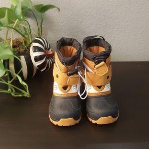 Thermolite Toodler Snow boots Sz4 orange & brown